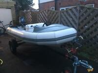 Avon supersport 345 rib trailer and Yamaha outboard engine