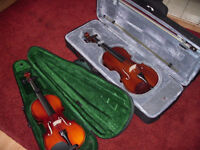Violin x2 two violins stentor student II and Antoni