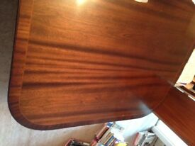 Large dining table & 6 chairs