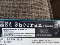 2 ed sheeran tickets standing