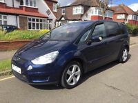 2010 FORD S-MAX 2.0 TITANIUM DIESEL AUTOMATIC, 7 SEATS, FULL SERVICE HISTORY, CRUISE, LOW MILEAGE