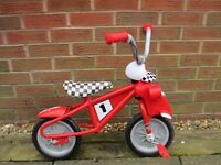 "Child's 10"" Roary The Racing Car Bike"