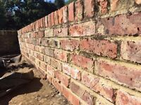 Reclaimed red and yellow stock bricks approx 800 - 80p each