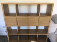 Ikea Kallax oak effect storage unit