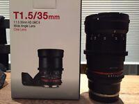 Samyang 35mm T1.5 Cine Lens for Sony E-Mount
