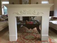 Laura Ashley fire surround with cream backing in good condition
