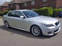 2005 (54) BMW 535D M SPORT AUTO - LEATHER - SATNAV -HEATED SEATS - WARRANTED MILES - AMAZING DRIVE