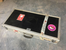 ABS pro-touring Pedalboard flight case guitar/bass