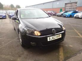 VOLKSWAGEN GOLF 2.0 TDi 140 GT 5dr [Leather] (black) 2012