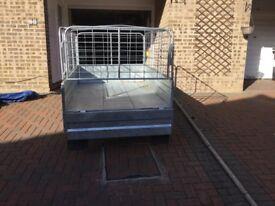 Phoenix Box Trailer. 6 x 4 folds into A frame for storage dip galvanised, electrics and jockey wheel