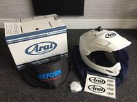 Arai Tour X4 - Diamond White Adventure Motorcycle Helmet S - 55-56 Dark Smoke Visor Pinlock Inserts