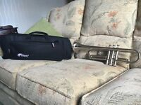 Brand new tristar Bflat trumpet and case