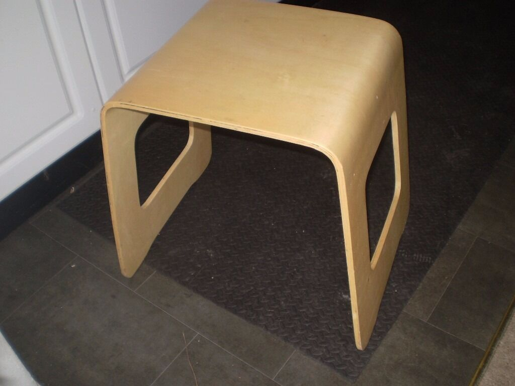 bent wood side table