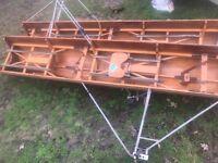 Vintage antique rowing boat