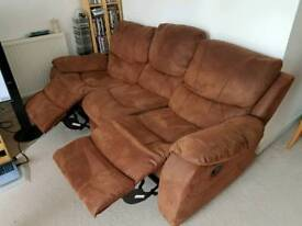 3 Seater sofa With Recliners