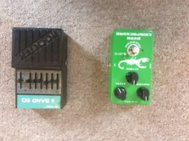 Joyo Compressor pedal and Rocktek eq pedal