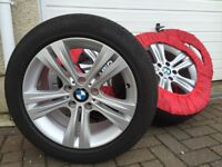 Set of 4 Genuine BMW 17 inch Alloy Wheels (Style 392) with Pirelli Tyres