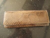 Grey Vintage Snakeskin Clutch bag