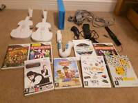 Wii console bundle, games and more!
