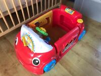 Fisher Price Laugh & Learn Smart Stages Crawl around Car, Red