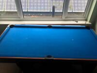 Pool Snooker Table With Cues and Balls