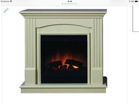 Dimplex CDW15WW Chadwick Freestanding Optiflame Effect Electric Fire Suite