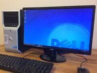 "DELL Workstation XEON 8 Core x 3.40ghz, 16GB, Ati FirePro V4800 + 24"" HD Monitor Desktop PC"