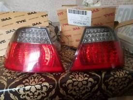 BMW 3 Series E46 Coupe Red & Smoked LED Rear Tail Lights Pair