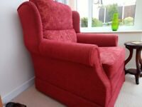 Two seater sofa and arm chair handmade