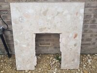 Marble Back for fire surround