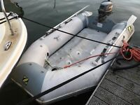 Zodiac 2.85mtr dinghy and 4hp outboard for sale