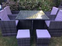 Cube rattan outdoor furniture