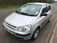 Hyundai Getz 1.4 gsi 2005, silver, manual, 5 door hatch, 90k miles, mot until march 2018,