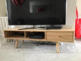 Scandinavian style tv unit and matching side table