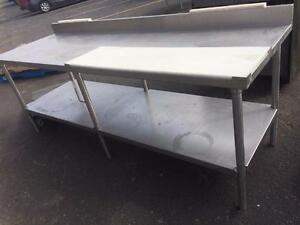 Heavy duty stainless steel table with cutting board