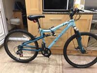 "Apollo fs26 mountain hybrid bike. 17"" frame. 26"" Wheels. Disk brake. Cheap working bike"