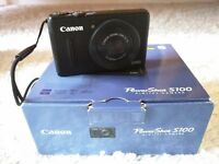 Canon PowerShot S100 Digital Camera - Black (12.1MP, Ultra Wide Angle, 5x Zoom) 3.0 inch LCD