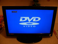 "18.5"" LCD HD Television (TV) with Built in DVD Player, Freeview, HDMI, USB, Black (No Remote)"