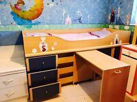 Carbin bunk bed with hiding desk