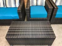 4 piece rattan garden furniture
