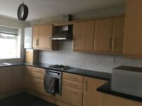 Used kitchen including laminate worktop sink working gas hob oven and hood