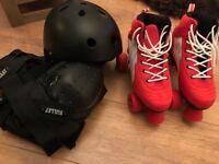 Rio Roller Quad Skates, Helmet, Elbow & Knee Pads
