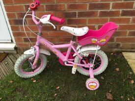 Apollo cupcake pink 12 inch bike