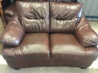 Brown Leather 3+2 Suite