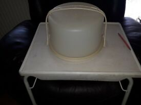 vintage tupperware large cake store and serve box