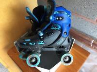 Adjustable roller skates size 3-6. Used twice