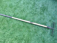 Long garden rake