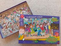 HORRID HENRY 250 PIECE PUZZLE ~ GLOW IN THE DARK ~AGES 7+ ~ CLASSROOM CHAOS! AS NEW