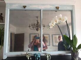 Bespoke mirrors made from original wooden sash windows