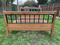 Brand New Heavy & Substantial Solid Hardwood & Cast Iron 4ft6 Double Size Bed Frame